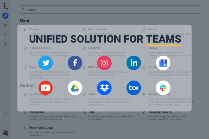 Unified Solution For Teams Statusbrew - Hero Video Frame